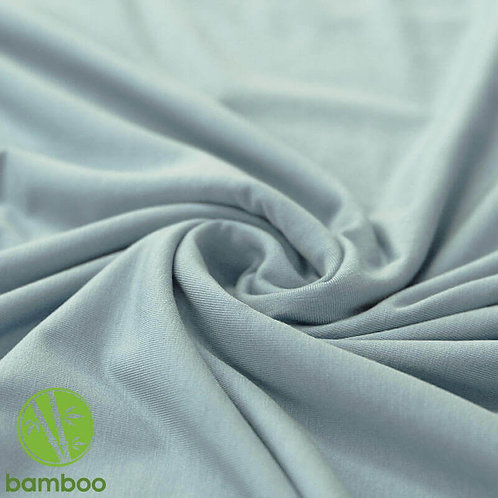 Bambusjersey Uni Meergrün