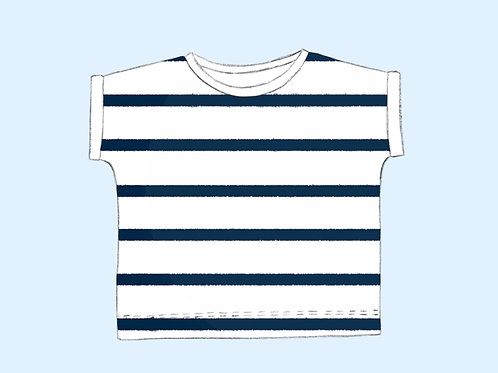 Shirt Streifen Bio