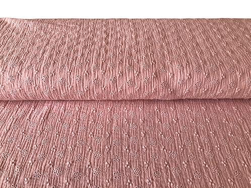 Bio Musselin Lochstickerei rosa