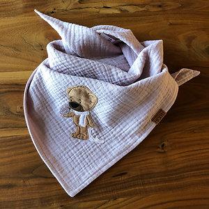 Musselin Halstuch Teddy mit Vogel