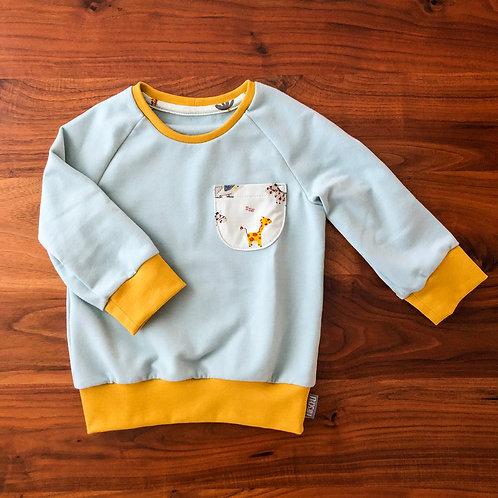 Raglan Pullover Afrika eisblau