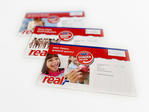 Projekt: Mailings an verschiedenste Zielgruppen, real,- und Payback
