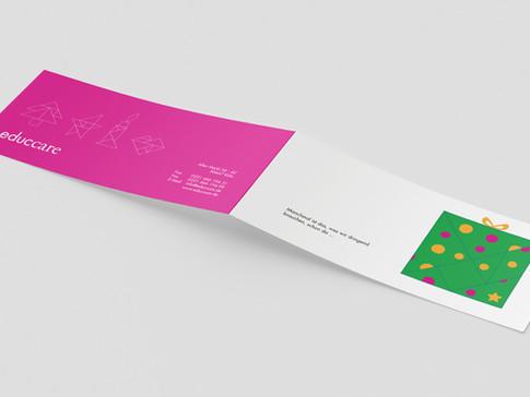 Projekt: Weihnachtskarte mit Stanze, educcare