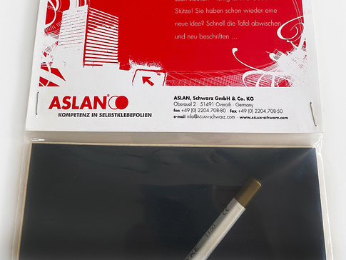 Projekt: 3D Mailing, ASLAN Klebefolien