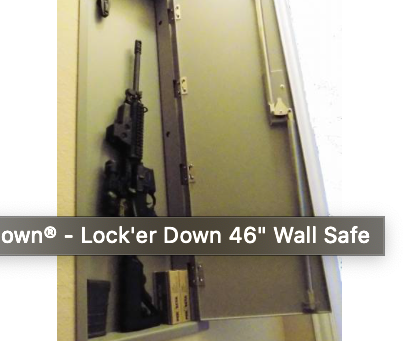 Nice, flush fit wall safes