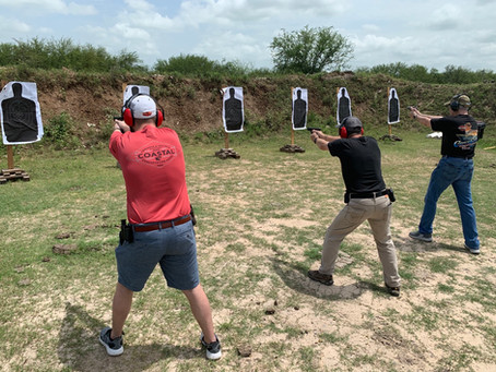 New Graduates of Basic Pistol Marksmanship