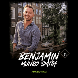BEN MUNRO SMITH DOESN'T STAY STILL FOR LONG!/  LUCKILY, YOU CAN KEEP TRACK OF HIS TRAVELS ON HIS INSTA PAGE, WHERE HIS CHEEKY UPDATES HAVE EARNED HIM A BIG FOLLOWING./   THE ADVENTUROUS AUSTRALIAN HAILS FROM SYDNEY, BUT HE USED TO CALL AMSTERDAM HOME, WHERE HE WORKED WITH NOMAD ACADEMY - AN INTRIGUING ORGANISATION BUILT ON THE PREMISE THAT CONVENTIONAL CAREERS HOLD US BACK FROM ACHIEVING ALL THAT WE COULD./   THEIR PROGRAMMES COMBINE SLOW TRAVEL (THINK LIVING IN A DIFFERENT PLACE!) WITH CAREER LEARNING (WORKSHOPS, MENTORING, YOU GET THE IDEA) TO OFFER PARTICIPANTS THE OPPORTUNITY TO BREAK OUT OF THEIR ROUTINES + CREATE ENTREPRENEURIAL CAREERS./   WE MANAGED TO TRACK BEN DOWN TO DISCOVER SOME OF HIS FAVOURITE PLACES IN AMSTERDAM...    //