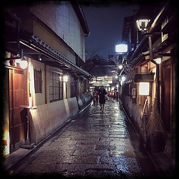 KYT0096 - Kyoto Nights - Woman with Umbr