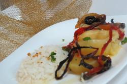 Bacalhau com arroz de alho