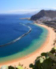 Famous beach and ocean lagoon Playa de l