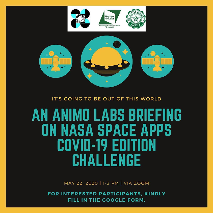 An Animo Labs Briefing on NASA Space Apps COVID-19 Edition Challenge