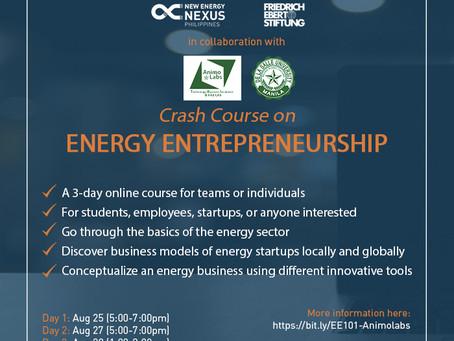 Crash Course on Energy Entrepreneurship