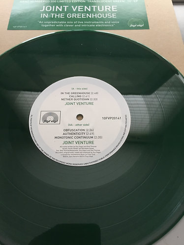 'IN THE GREENHOUSE' VINYL Sons of Ben formerly Joint Venture