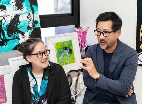 「色畫廊/色作藝術文創」張恆、杜玉佩──畫壇張無忌 偕良伴以彩墨揮灑暢意人生