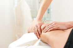Patient at the physiotherapy gets massag