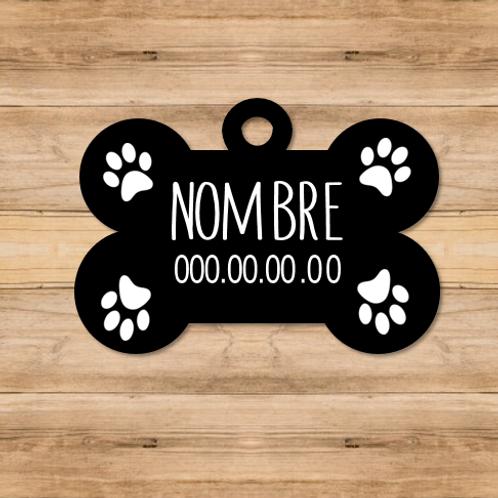 Chapa mascotas Fondo negro