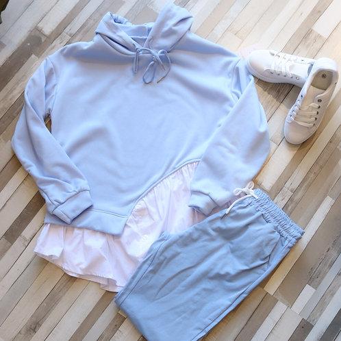 Sudadera con bajo camisa