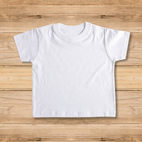 Camiseta Niño Blanca 1 Cara