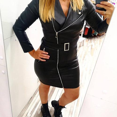 Vestido chaqueta polipiel