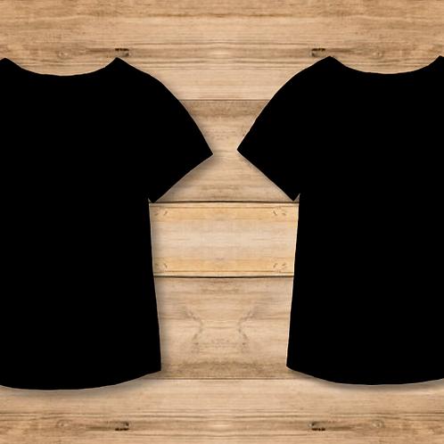 Camiseta Mujer Negra 2 caras