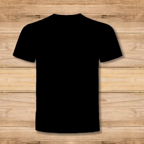 Camiseta Hombre Negra 1 Cara