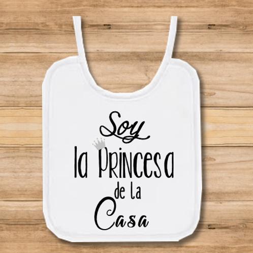 Babero Soy la Princesa de la casa
