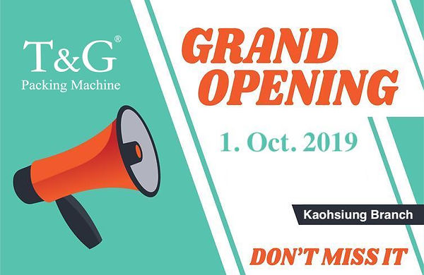 T&G will open a new branch in Kaohsiung on Oct. 1, 2019. Welcome to visit us!