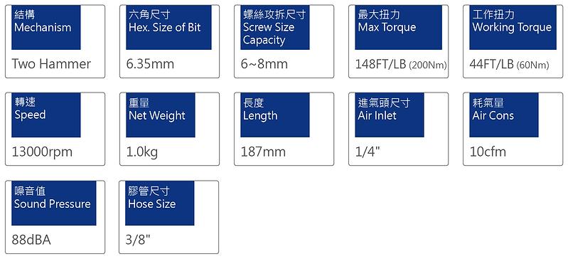 氣動起子 PSD-806P