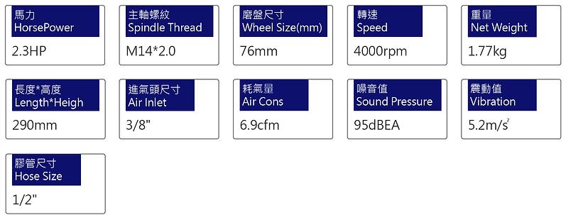 氣動水磨機、砂光機 PWS-126L