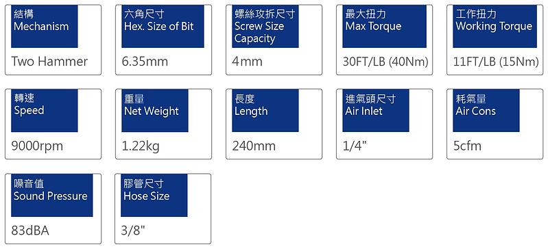 氣動起子 PSD-3015L90
