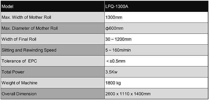 LFQ Vertical Slitting Rewinding Machine