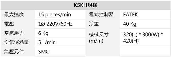 KSKH 信封包裝機