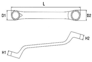 45º Short type Double Ring Wrench