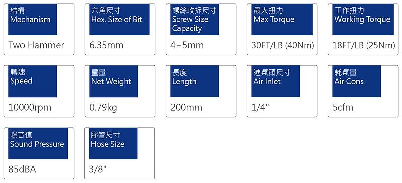 氣動起子 PSD-3015A1