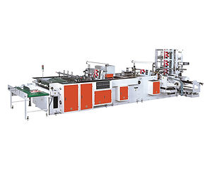 NJT800 Fully Automatic High Speed Inside Gule Patch Handle Bag Making Machine