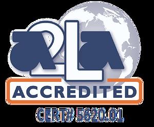 Accredited Laboratory by A2LA