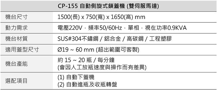 CP-155 自動側旋式鎖蓋機 (雙伺服馬達)