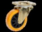 428a橘色PU活動輪