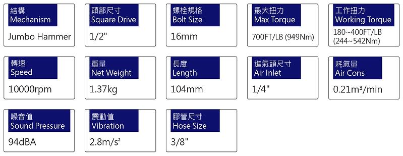 氣動扳手 PW-215JG