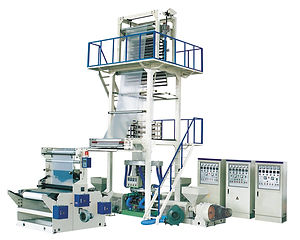 2SJ-M ABA Three Layer Co-Extrusion Film Blowing Machine