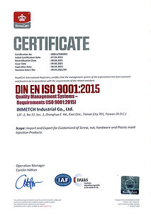 ISO Certificate of Inmetch