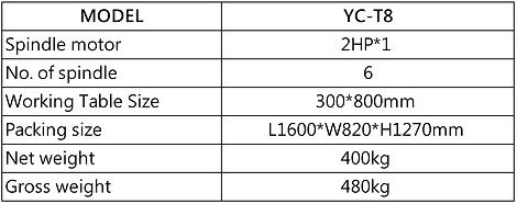 YC-T8 MULTI-DIRECTION DRILLING MACHINE