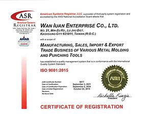 5017 Wan Iuan Enterprise ISO 9001 Certificate Sept 2021stamped.jpg