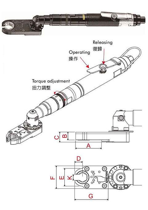 氣動棘輪扳手 PRW-EW24 系列