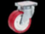 788a-v紅色PU活動輪