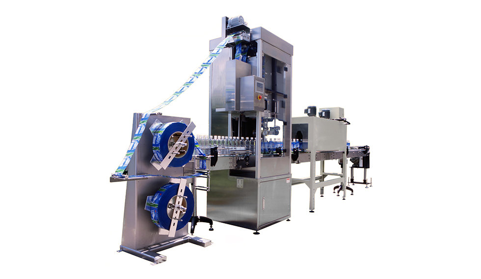 Auto Shrinkable Label Inserting Machine & Shrinking Tunnel