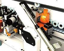 HF motor de 12.000 rpm / 0,3 kW / 200 Hz en la lámina doble del fin de recorte unidad de cuchillas de doble basculamiento fijado en 0 grados y 15 grados