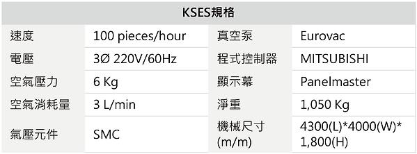 KSES 紙卡熱壓機之收箱系統