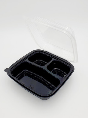 Dual color hinged container