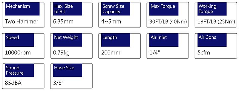 Air Screwdriver - PSD-3015A1